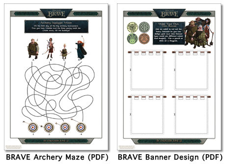 Screen shot 2012 06 13 at 11.55.20 PM Disney / Pixar Brave Activity Sheets Printables