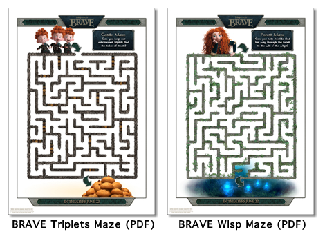 Screen shot 2012 06 13 at 11.55.32 PM Disney / Pixar Brave Activity Sheets Printables